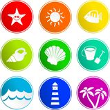Beach sign icons royalty free illustration