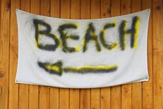 Beach Sign. Royalty Free Stock Image