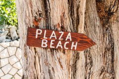 Beach sign. Stock Images