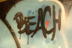 Beach sign Stock Photo
