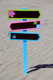 Beach signage Royalty Free Stock Images