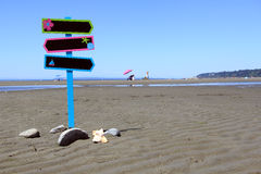 Beach signage Royalty Free Stock Photography