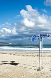 Beach signs Royalty Free Stock Photos