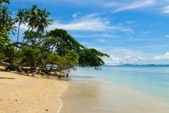 Beach on Siladen island Stock Photo