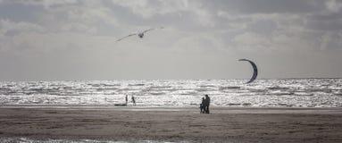 Beach silhouettes stock photos