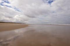 A Beach on the Silver Coast of France. Stock Photos