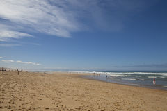 A Beach on the Silver Coast of France. Royalty Free Stock Photo