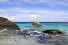 Beach of Similan Islands at Phang Nga Royalty Free Stock Photos