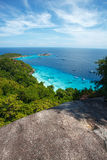 Beach of Similan Koh Miang island in national park Stock Image