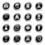 Beach simply icons Royalty Free Stock Image