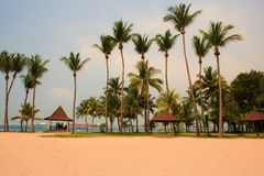 Beach of Singapore Stock Images