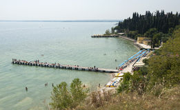 Beach at Sirmione Royalty Free Stock Photos