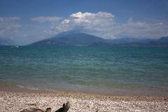 A beach in Sirmione on the Garda lake Stock Photography