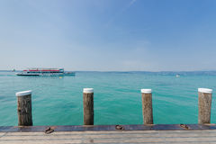 Beach of Sirmione town. Lake Garda, Stock Photography