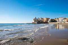 Beach at Sitges in Spain Royalty Free Stock Image