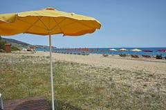 Beach at Skala resort, Kefalonia, Ionian islands, Greece Royalty Free Stock Photography