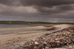 Beach at Skara Brae, Orkney, Scotland. Royalty Free Stock Photo