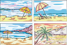 Beach sketches Royalty Free Stock Photo