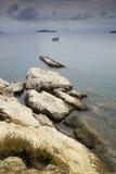 Beach in Skiathos island Sporades  archipelago. Beach in Skiathos island,  Sporades  archipelago Greece Stock Image