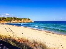 Beach in skiathos. Koukounaries elias beach in skiathos greece. September 2018 royalty free stock photography