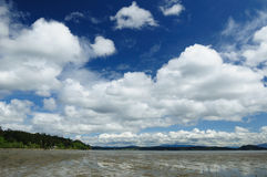 Beach and sky. Beautiful seascape in whidbey island, washington, usa Royalty Free Stock Images