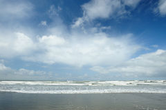 Beach and sky. Beautiful seascape in whidbey island, washington, usa Royalty Free Stock Photo