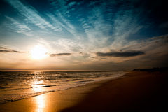 Beach and sky Royalty Free Stock Photography