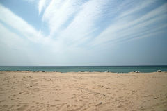 Beach and Sky Background Royalty Free Stock Photos