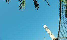 Beach sky background. Sky from a beach cabana Stock Image