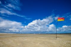 Beach, Sky, Blue Sky, Flag Royalty Free Stock Image