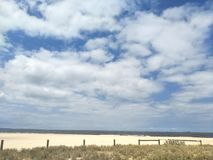 Beach and sky. This is the beach in Port Melbourne with a summer time Royalty Free Stock Images