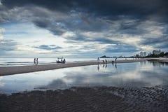 Beach & Sky reflection Royalty Free Stock Photography