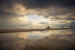 Beach & Sky reflection Stock Photos
