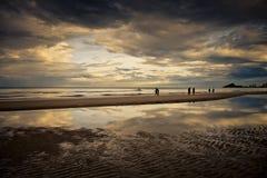 Beach & Sky reflection Stock Image