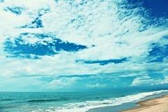 Beach sky sea Stock Image