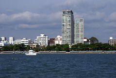 The beach or skyline of Pattaya city in Thailand, Asia Royalty Free Stock Images
