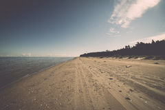 Beach skyline with sand and perspective Royalty Free Stock Photo