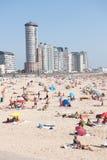 Beach skyline Vlissingen. Beach and boulevard and skyline  in Vlissingen Netherlands Stock Image