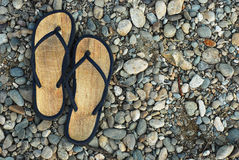 Beach slippers Stock Photos