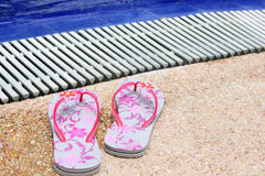 Beach slippers Stock Photography