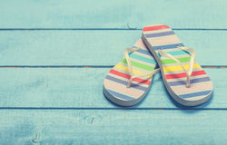 Beach slippers Royalty Free Stock Photography