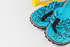 Beach slippers Royalty Free Stock Images