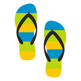 Beach slippers icon Royalty Free Stock Photography