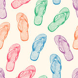Beach slippers pattern Royalty Free Stock Images
