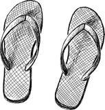 Beach slippers Stock Image