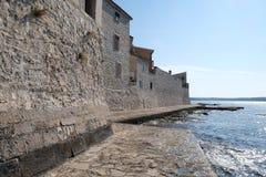Beach in the small idyllic city Novigrad located on the west coast of Istria peninsula, Croatia.  stock photography