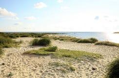 Beach in Snogebaek, Bornholm, Denmark royalty free stock photos