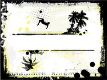 Beach soccer. Sketching background of the beach soccer Stock Image