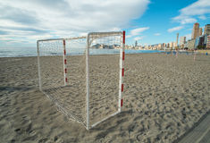 Beach soccer equipment Royalty Free Stock Photo