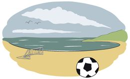 Beach soccer field Stock Photography